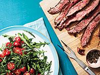 steak-arugula-herbed-tomato-salad