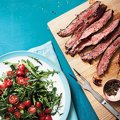 Flank Steak with Arugula and Herbed Tomato Salad - Make-Ahead Recipes ...