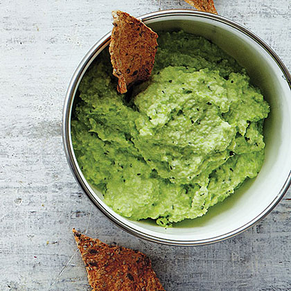Herby Edamame Dip With Buckwheat Crackers Recipe - Health.com