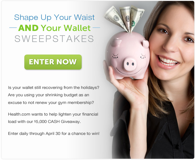 Enter The Shape Up Your Waist AND Your Wallet Sweepstakes