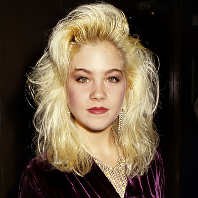 Christina Applegate, 1986, transformation, celebrity hair, celebrity makeup