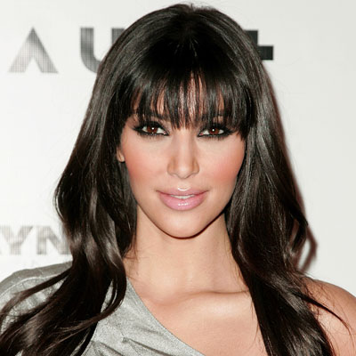 Kim Kardashian - Transformation - Bangs - Celebrity Before and After