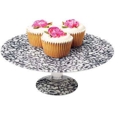 Découpage glass cake stand, John Derian.