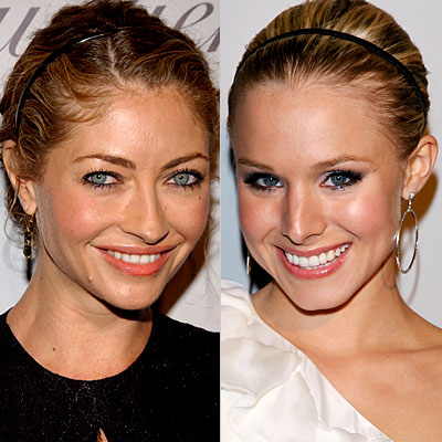 Rebecca Gayheart, Kristen Bell, headbands, Daily Beauty Flash, hair, makeup, beauty