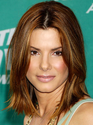 paula abduls hairstyle. Celebrity Hair: Sandra Bullock Straight Hairstyles