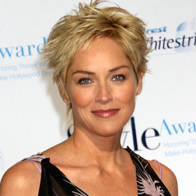 Sharon Stone short blonde haircuts
