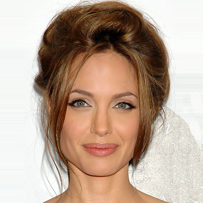 Angelina Jolie party hair style