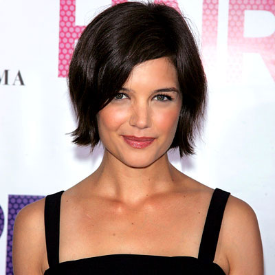 Celebrity short black hairstyle