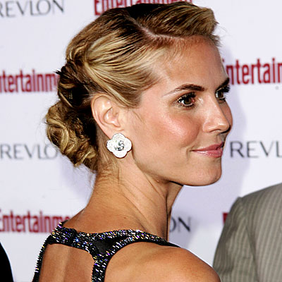 heidi klum hair. Heidi Klum, Holiday Beauty
