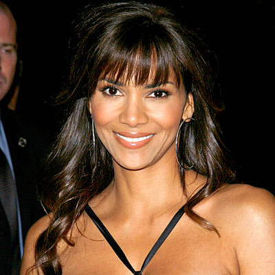 Halle Berry - Blunt soft bangs with long loose curls. John Spellman/Retna