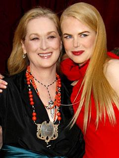 "Photo of Meryl Streep & her friend actress  Nicole Kidman - Movie ""The Hours"""