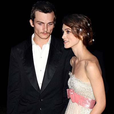 Also in Italy, Keira Knightley brought along boyfriend Rupert Friend to the