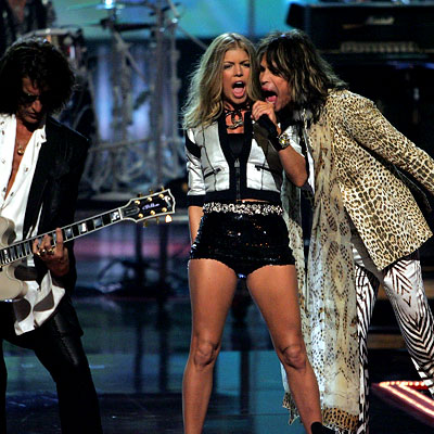 steven tyler is hot. Joe Perry, Steven Tyler and