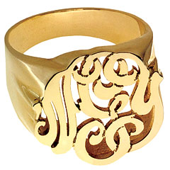 Monogram Ring from instyle.com