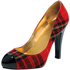 Guess Plaid Pump from instyle.com