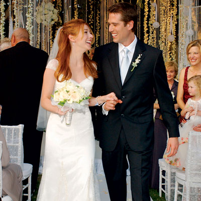 Alyson Hannigan with friendly, Husband Alexis Denisof