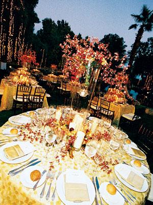 Celebrity Wedding Alyson Hannigan Alexis Denisof pomegranate wedding