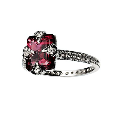 Pink Tourmaline - Colored Engagement Rings - In Style Weddings from instyleweddings.com