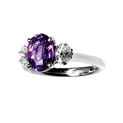 Pink Sapphire - Colored Engagement Rings - In Style Weddings from instyleweddings.com