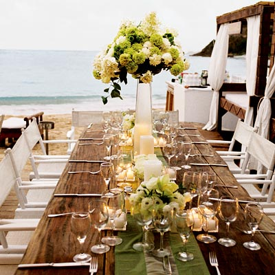 Beach Wedding on Beach Theme Wedding Ideas  Table And Flair   Reception Decor   In