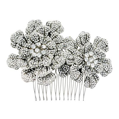 Combs - Glittering Hair Accessories - In Style Weddings :  floral in style weddings bridal weddings