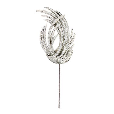 Hair Stick - Glittering Hair Accessories - In Style Weddings :  nelson dleon in style weddings bridal hair jewelry