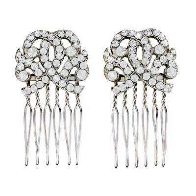 Combs - Glittering Hair Accessories - In Style Weddings :  in style weddings bridal weddings hair accessories