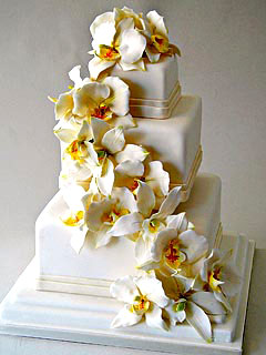 Vintage of Square White Wedding Cakes