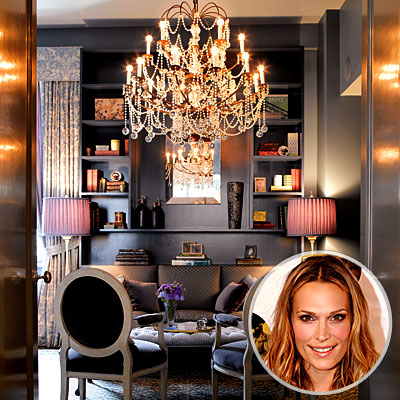 Molly Sims's Chandelier and Chairs, Best Vintage Finds