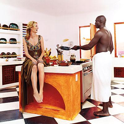 Heidi Klum and Seal, Stars at Home