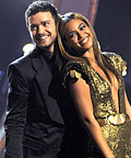 Justin Timberlake and Beyonce