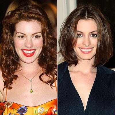 anne hathaway bob. Anne Hathaway, Hair, Before