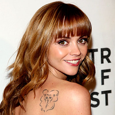 christina ricci lion tattoo free tattoo designs online