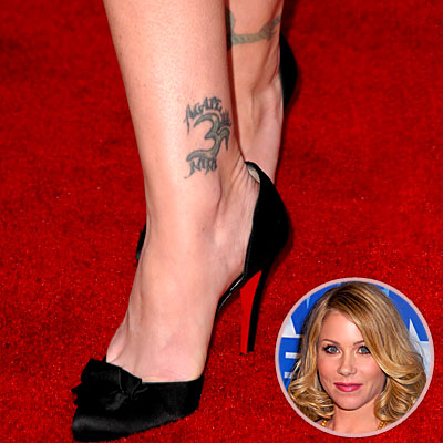 celebrity ankle tattoos