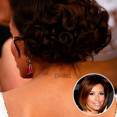 Eva Longoria Parker, Celebrity Tattoos. Dan MacMedan/WireImage; Duffy-Marie