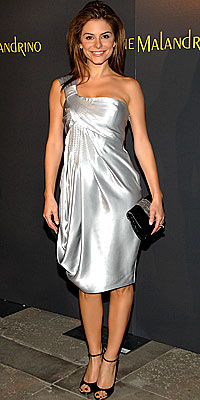 Maria Menounos, Malandrino, Silver, Holiday Dresses