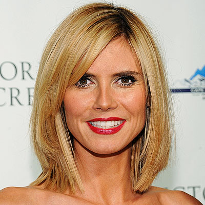 heidi klum star hairstyles from a to l. Black Bedroom Furniture Sets. Home Design Ideas