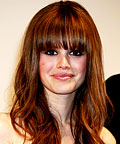 Rachel Bilson, Daily Beauty Flash, Long eye-skimming bangs, falt iron, makeup, beauty, hair