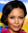 Thandie Newton, foundation, powder, moisturizer, powder brush