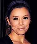Eva Longoria-Parker, Juicy Couture patent headband, hair accessories