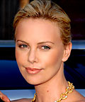 Charlize Theron, M.A.C Iridescent Press Powder in Belightful, powder, makeup