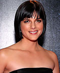 Selma Blair, M.A.C Shadow Pigment in Copper Sparkle, eye shadows