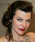 Milla Jovovich, luminous skin