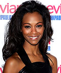 Zoe Saldana, hair