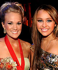 Carrie Underwood, Miley Cyrus, teeth
