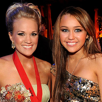 [Carrie Underwood, Miley Cyrus]