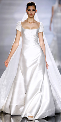 FashionDesigners - Bridal Gown Collections - Spring 2009 Bridal Photos at InStyle.com :  chic color silver designers