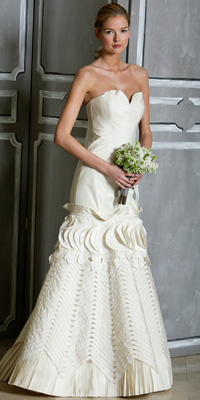 FashionDesigners - Bridal Gown Collections - Spring 2009 Bridal Photos at InStyle.com :  chic color designers gold