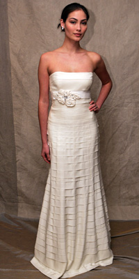 FashionDesigners - Bridal Gown Collections - Spring 2009 Bridal Photos at InStyle.com :  chic designers gold lela rose