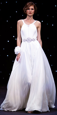 FashionDesigners - Bridal Gown Collections - Spring 2009 Bridal Photos at InStyle.com :  chic jenny packham designers gold